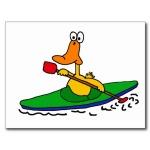 Duck stuffed in kayak